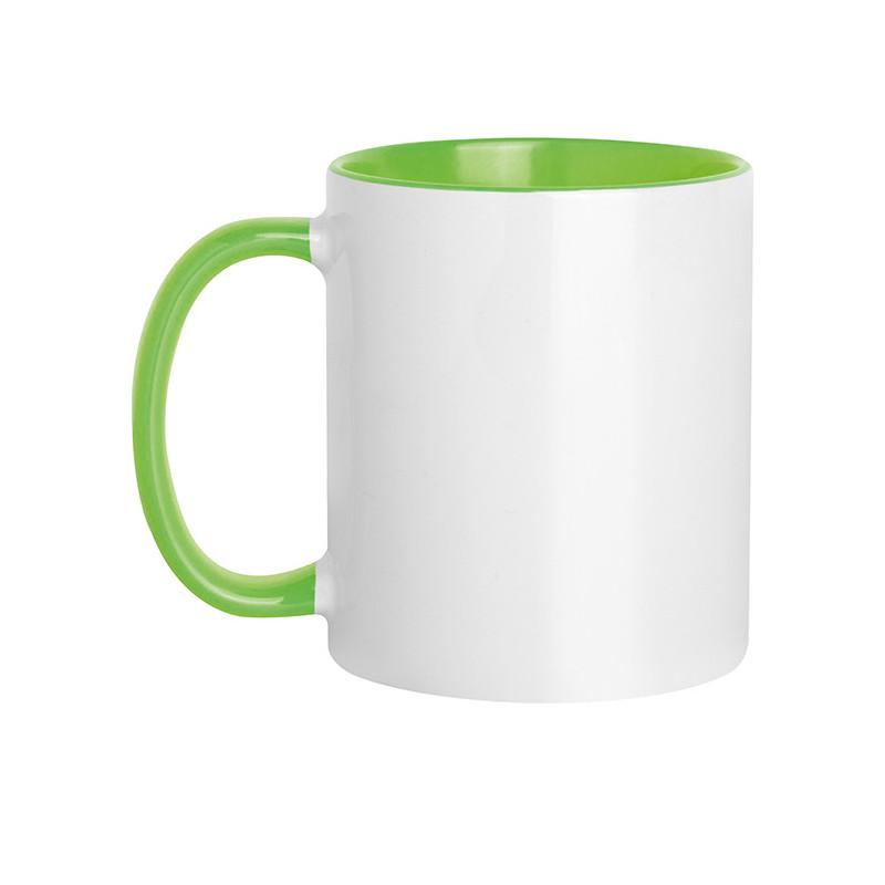 PC467 - Tazza in ceramica con interno e manico colorati Verde Lime PC467VL