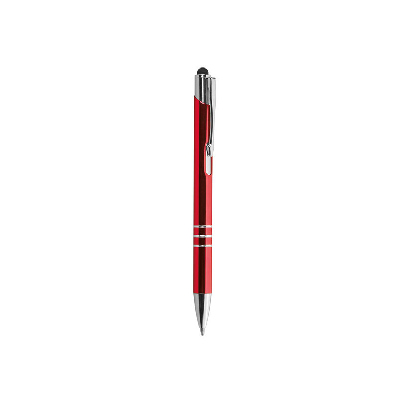 PD076 - Penna a sfera con gommino per touch screen Rosso PD076RO