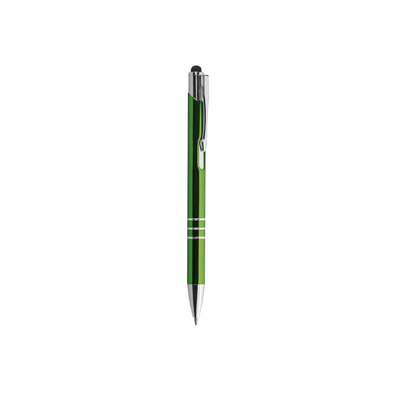 PD076 - Penna a sfera con gommino per touch screen Verde PD076VE