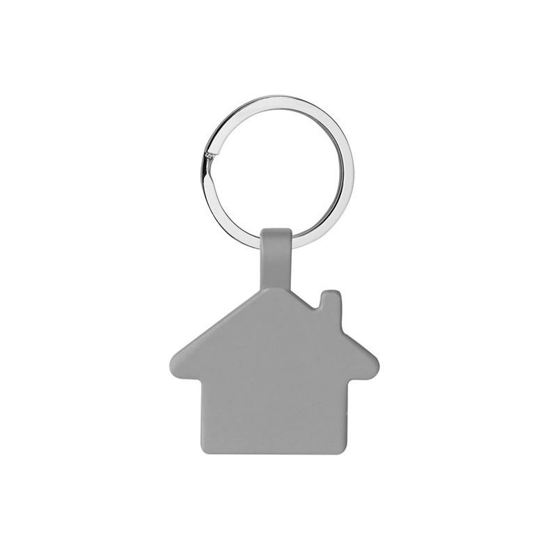 PE010 - Portachiavi ad anello piatto Grigio PE010GR