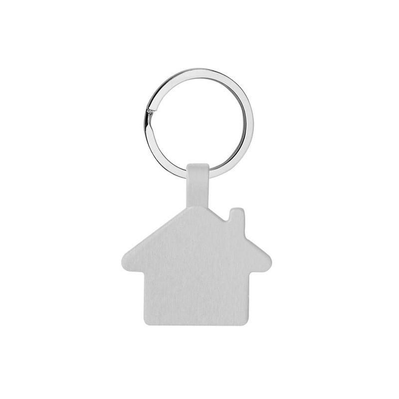 PE010 - Portachiavi ad anello piatto Silver PE010SI