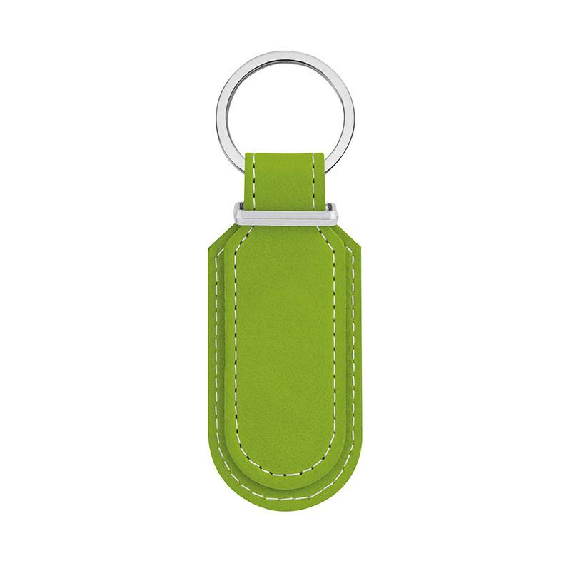 PE031 - Portachiavi con cuciture a contrasto Verde Lime PE031VL