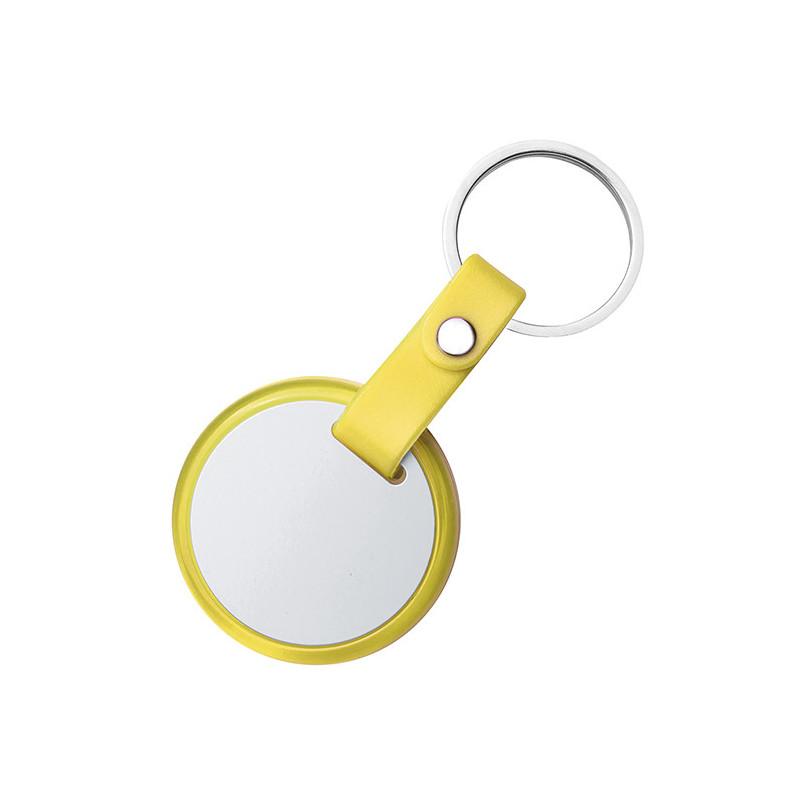 PE034 - Portachiavi ad anello piatto Giallo PE034GI
