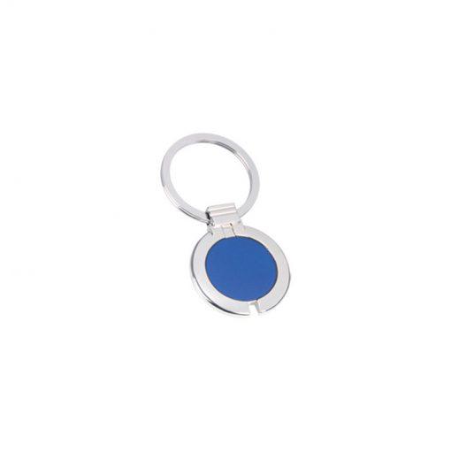 PE100 - Portachiavi ad anello piatto Blu Royal PE100RY