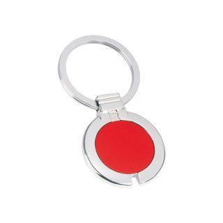 PE100 - Portachiavi ad anello piatto Rosso PE100RO