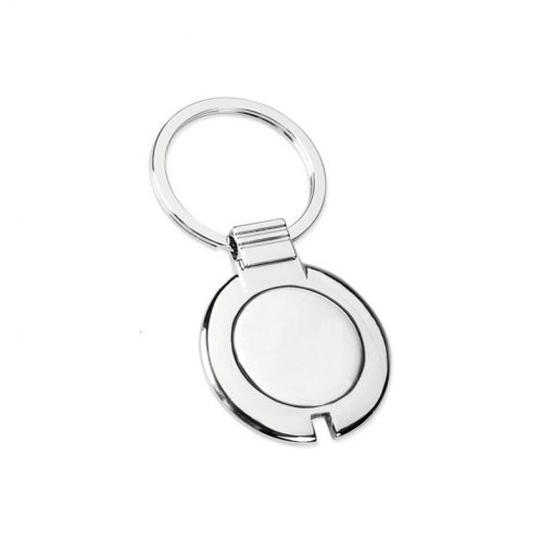 PE100 - Portachiavi ad anello piatto Silver PE100SI
