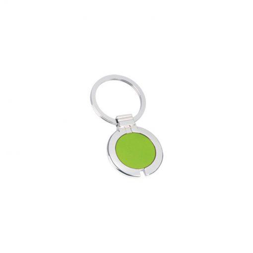 PE100 - Portachiavi ad anello piatto Verde PE100VE