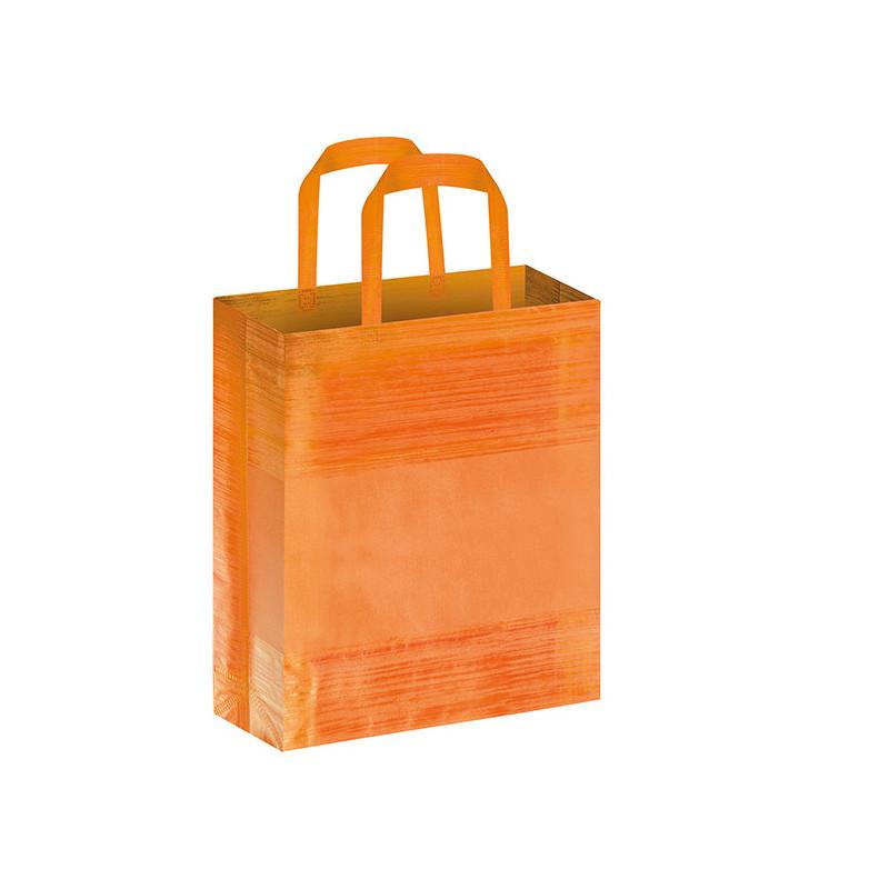 PG127 - Borsa shopping con soffietto effetto striato Arancio PG127AR