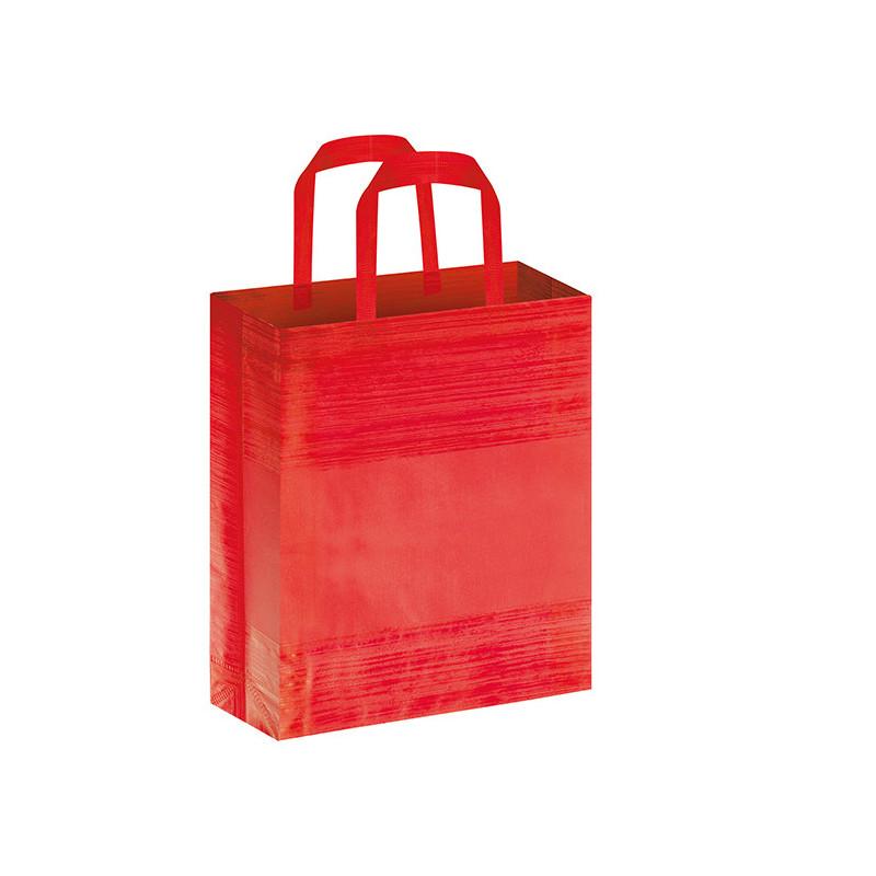 PG127 - Borsa shopping con soffietto effetto striato Rosso PG127RO