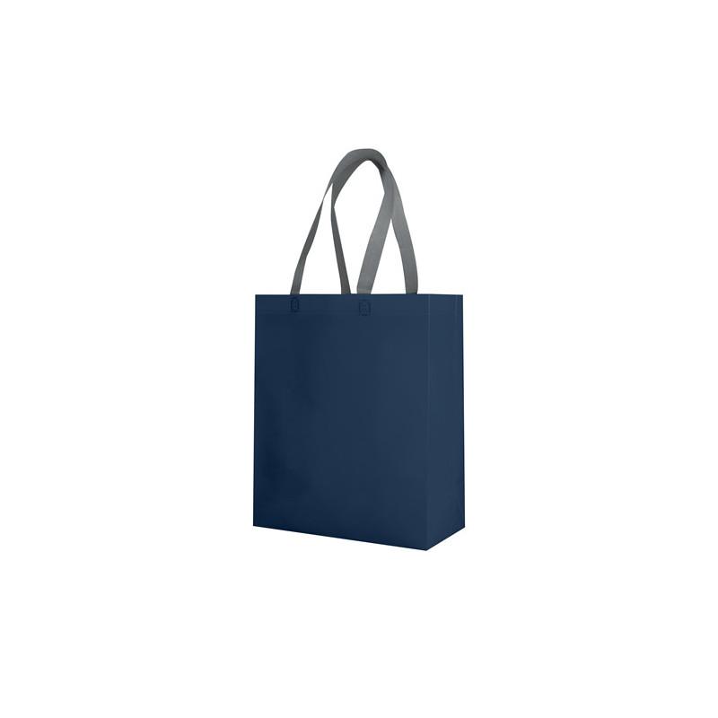 PG135 - Borsa shopping con soffietto Blu PG135BL