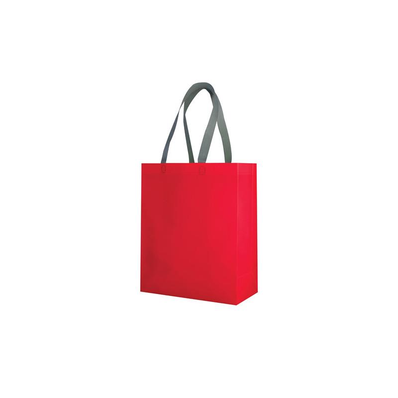 PG135 - Borsa shopping con soffietto Rosso PG135RO