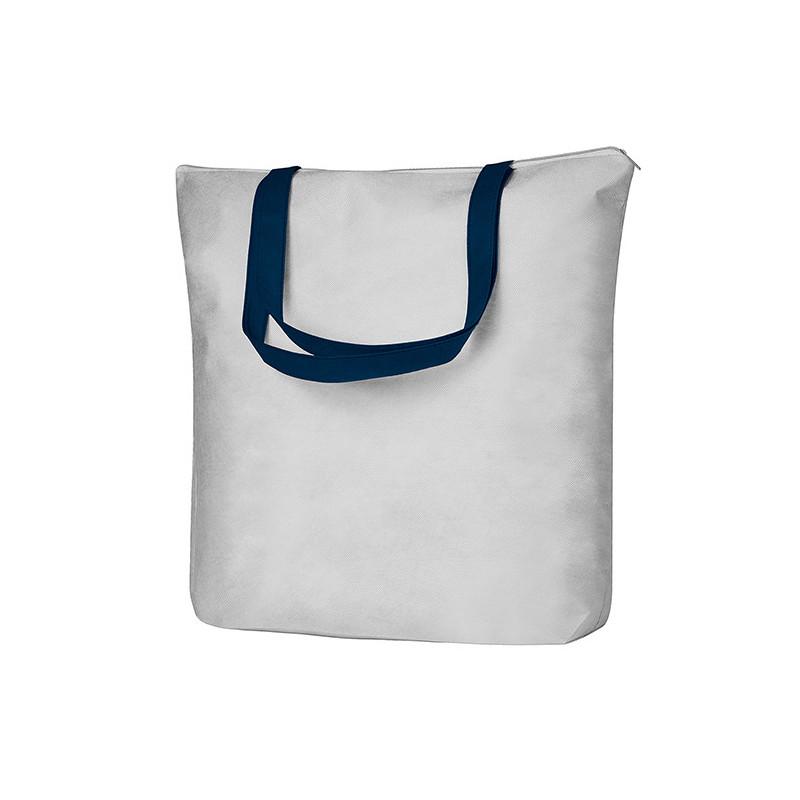 PG137 - Borsa shopping Bianco Blu PG137WB