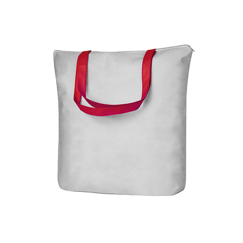 PG137 - Borsa shopping Bianco Rosso PG137WR