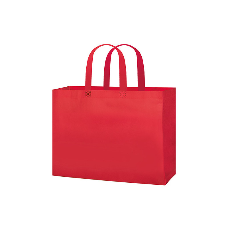 PG145 - Borsa shopping con soffietto Rosso PG145RO