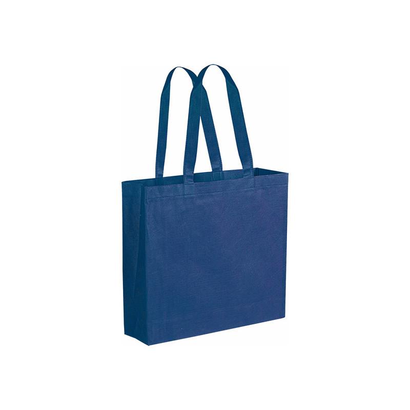 PG166 - Borsa shopping con soffietto Blu PG166BL
