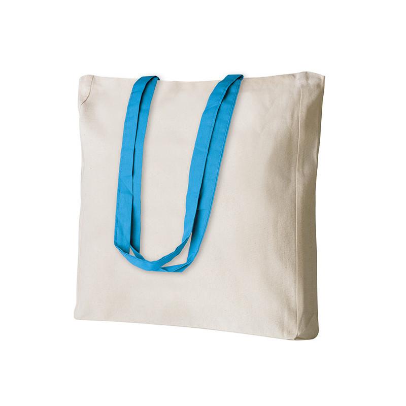 PG194 - Borsa shopping con soffietto Azzurro PG194AZ