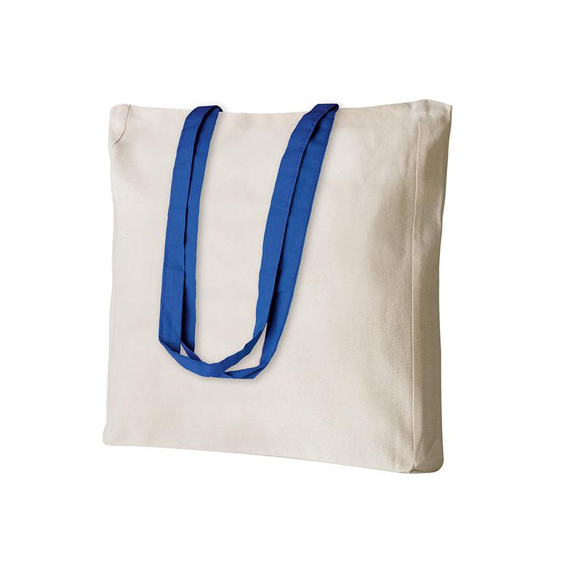 PG194 - Borsa shopping con soffietto Blu PG194BL