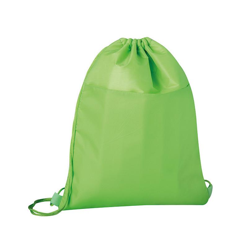 PJ105 - Sacca zaino con rivestimento termico nylon 210d Verde Lime PJ105VL