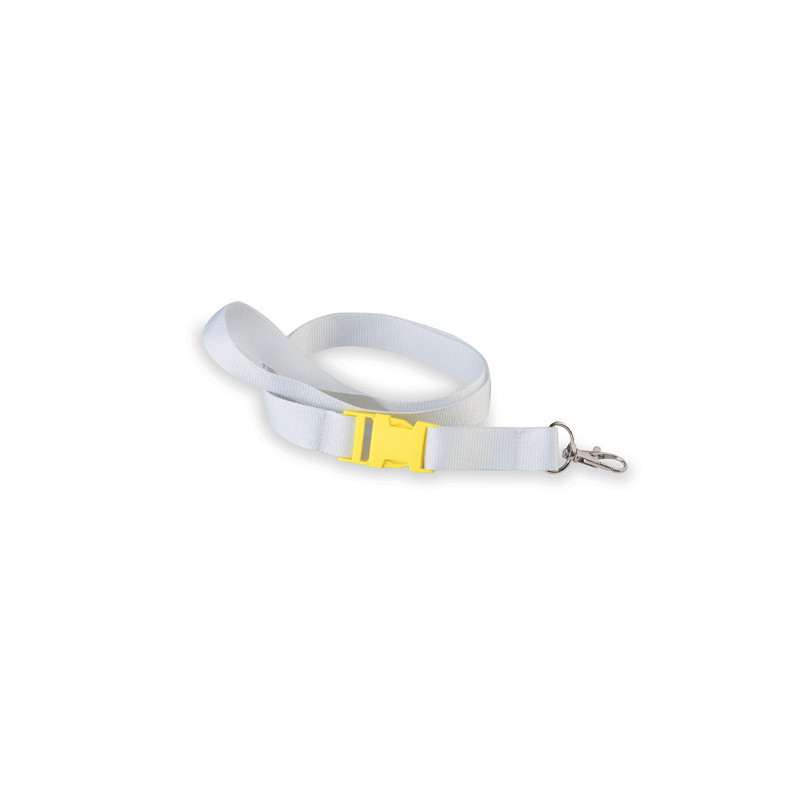 PJ504 - Cordoncino da collo Bianco Giallo PJ504WG