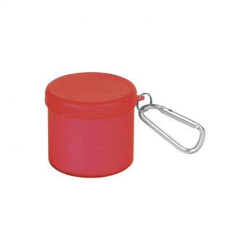 PL286 - Poncho antipioggia con cappuccio Rosso PL286RO
