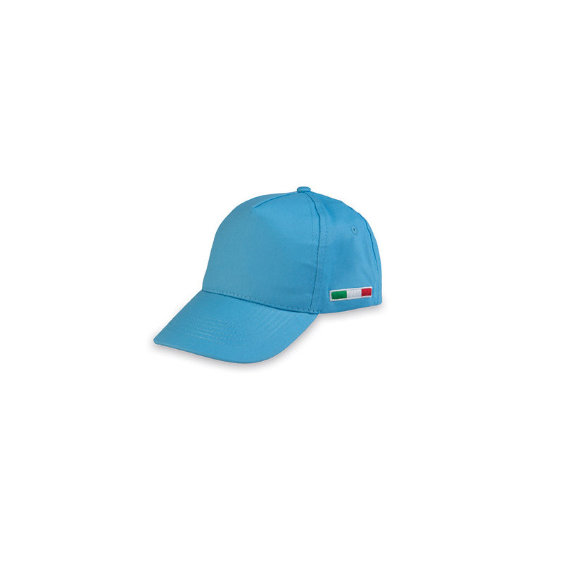 PM102 - Berretto 5 pannelli cotone twill 108/58 Azzurro PM102AZ