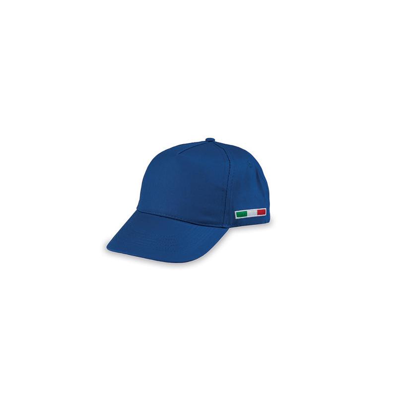 PM102 - Berretto 5 pannelli cotone twill 108/58 Blu Royal PM102RY