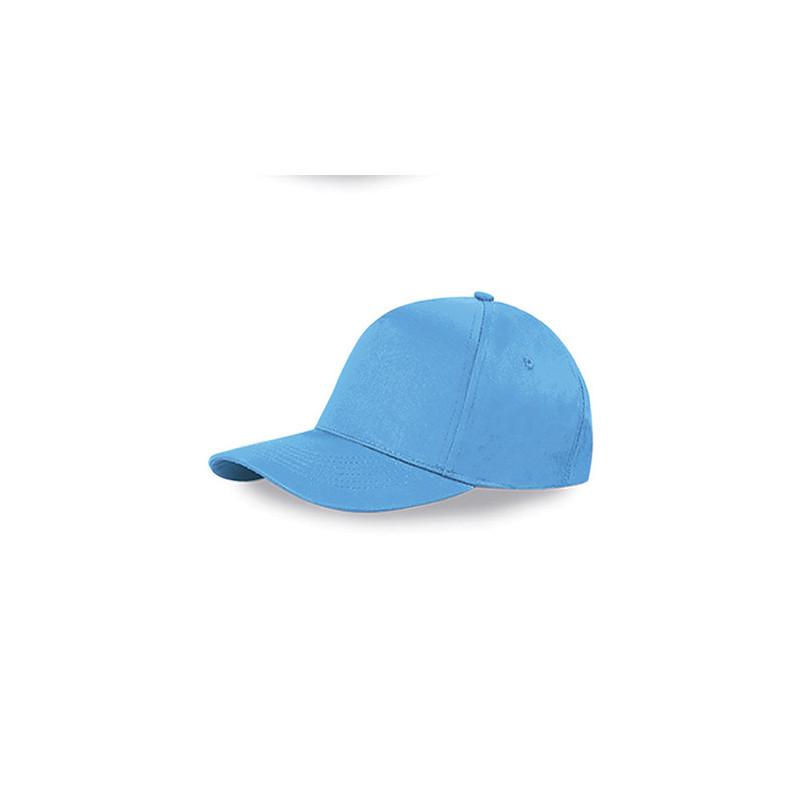 PM105 - Berretto 5 pannelli cotone twill 108/58 Azzurro PM105AZ