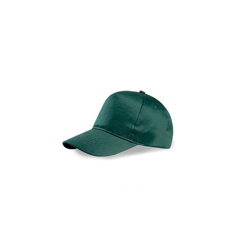 PM105 - Berretto 5 pannelli cotone twill 108/58 Verde Scuro PM105VS