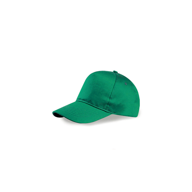 PM105 - Berretto 5 pannelli cotone twill 108/58 Verde PM105VE