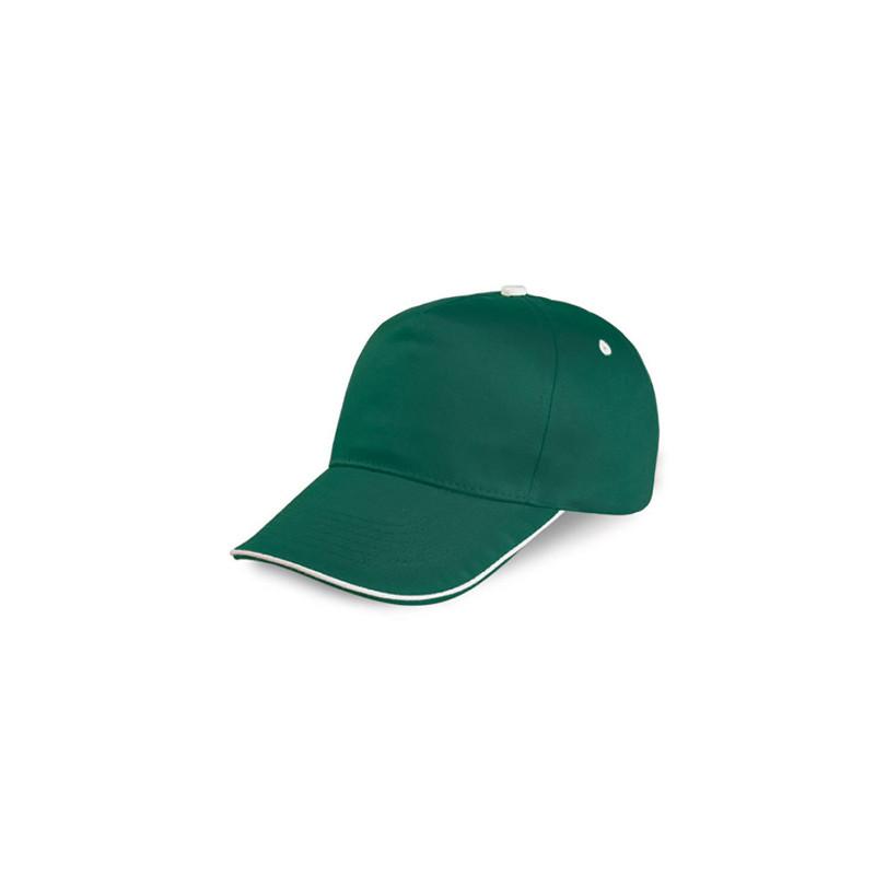 PM108 - Berretto 5 pannelli cotone twill 108/58 Verde Scuro PM108VS