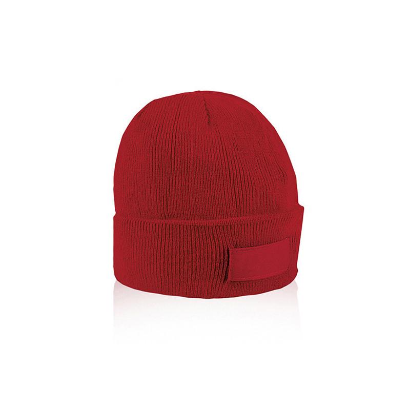 PM192 - Cappellino con etichetta serigrafabile Rosso PM192RO