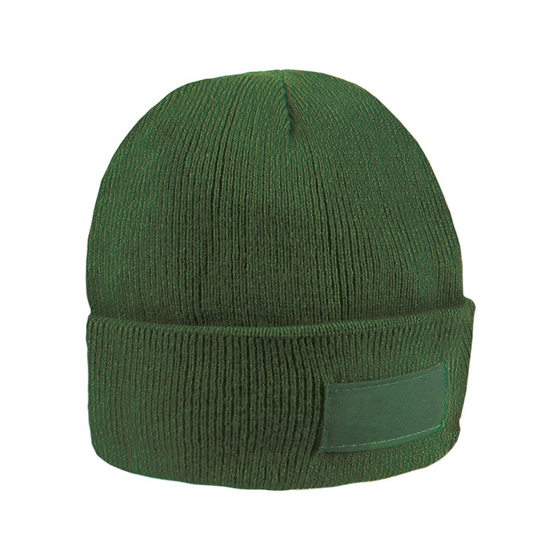 PM192 - Cappellino con etichetta serigrafabile Verde PM192VE