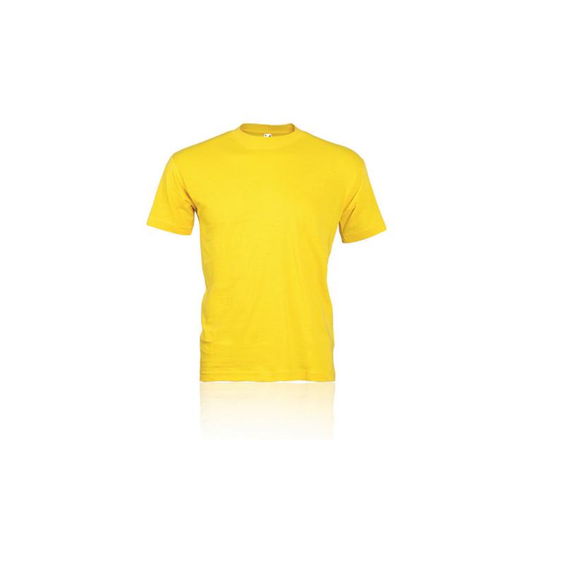 PM322 - T - shirt adulto cotone  pettinato Giallo PM322GIL