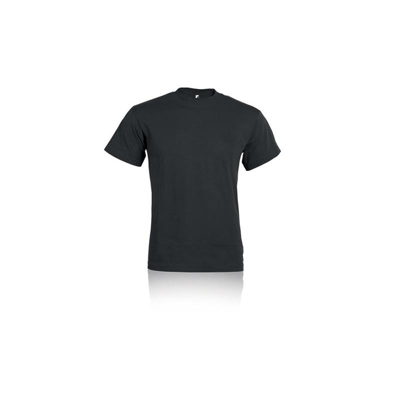PM322 - T - shirt adulto cotone  pettinato Nero PM322NEL