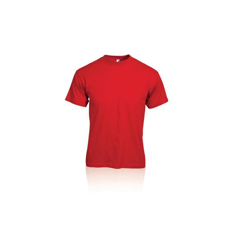 PM322 - T - shirt adulto cotone  pettinato Rosso PM322ROL