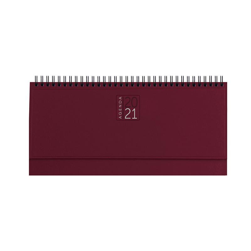 PB489 - Planning 128 pagine F.to cm 30x14 ca (chiuso) Bordeaux PB489BO